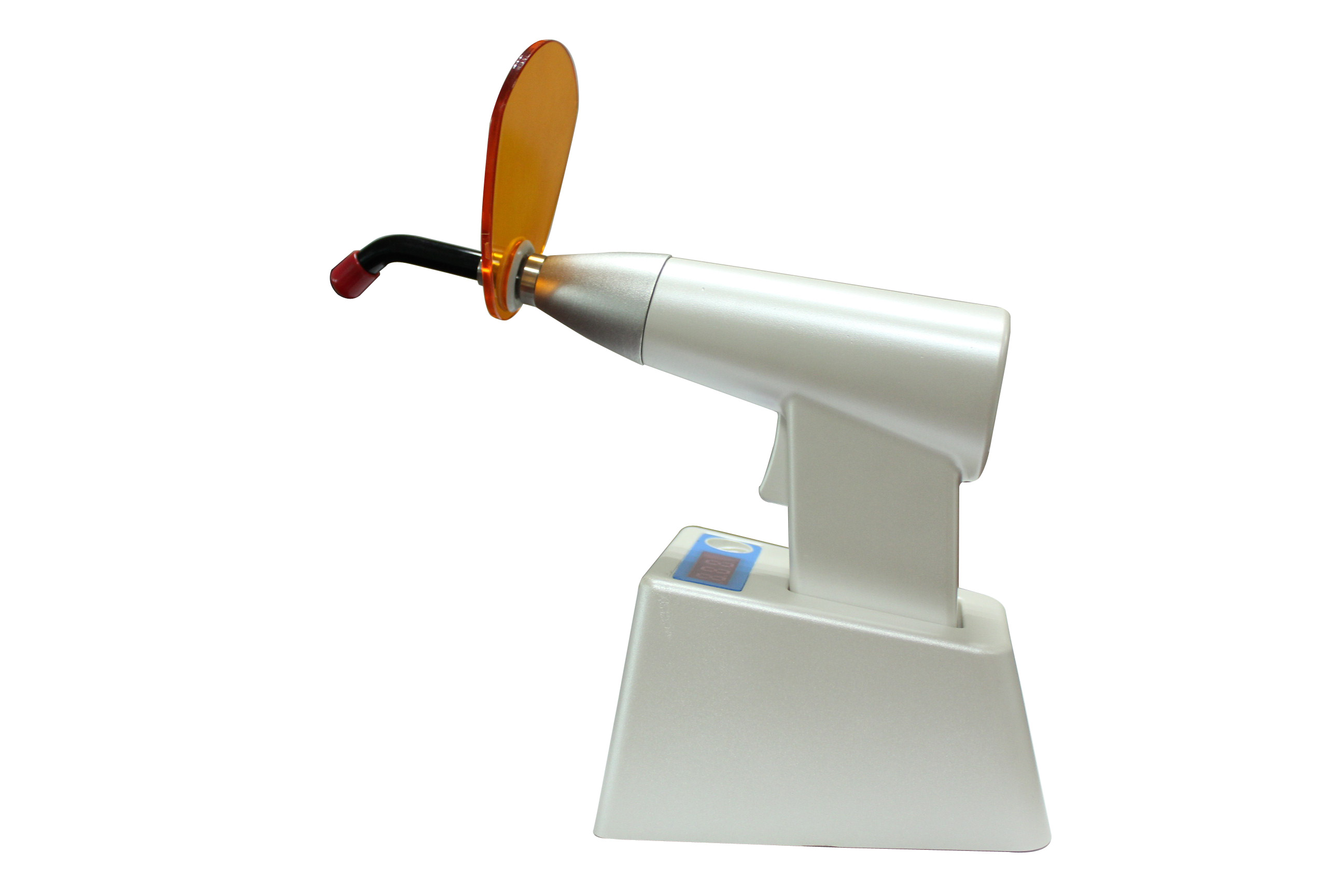 Wireless charge LED curing light with photometer
